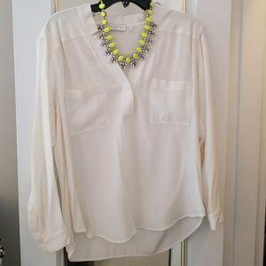 Sandro silk ivory blouse